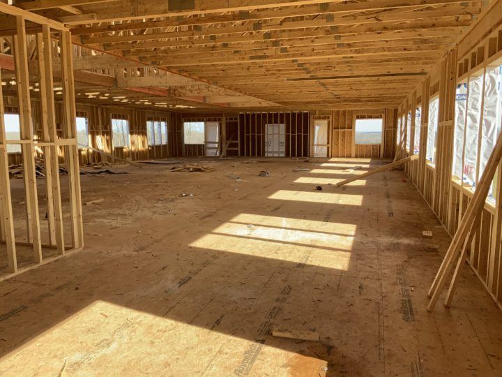 interior photograph of new building under construction