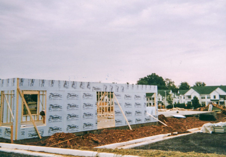photograph of construction of Southridge Parkway building