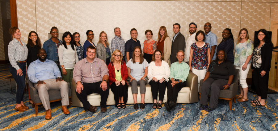 Photograph of the 2019 class of newly-trained item writers